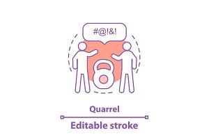 Quarrel concept icon