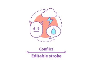Conflict concept icon