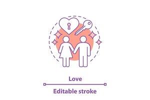 Love concept icon