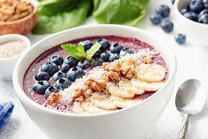 Acai Blueberry Superfood Smoothie