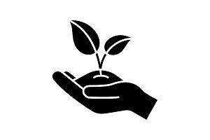 Greening glyph icon