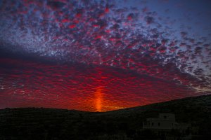 Dark red sunset