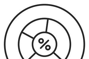 Diagram stroke icon, logo