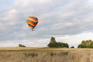 Colorful hot-air balloon
