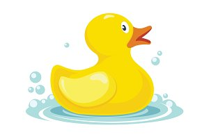 rubber yellow duck. bath children