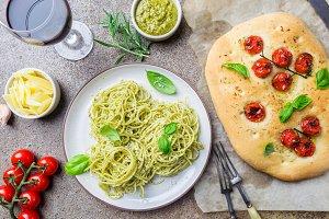 Concepts of Italian food.