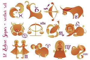 Zodiac signs set
