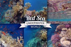 6 underwater blurred backgrounds set