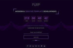 PURP- Coming Soon Bootstrap Template