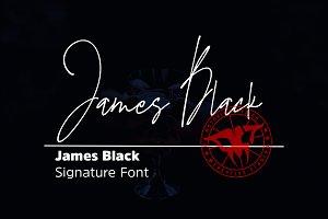 James Black Elegant Signature Font