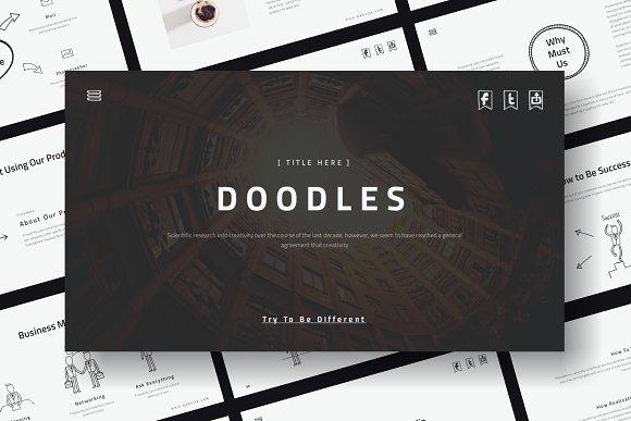 doodles powerpoint template presentation templates creative market