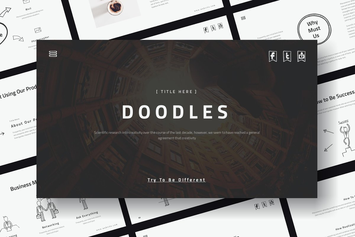 Doodles - Powerpoint Template ~ PowerPoint Templates ~ Creative Market