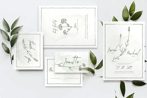 Natural Floral Wedding Suite