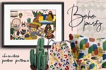 Boho party by  in Illustrations