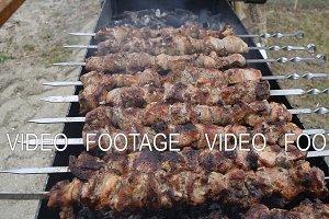 Appetizing shish kebab. Delicious