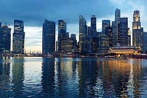 Singapore evening panorama