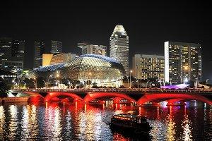 Modern esplanade theater. Singapore