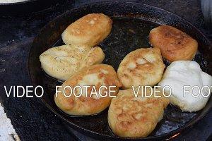 Fry the patties in oil in a frying