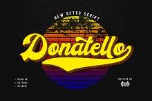 Donatello II new retro script by  in Fonts