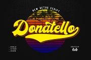 Donatello II new retro script