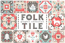Folk Tile - Graphic Collection by  in Illustrations