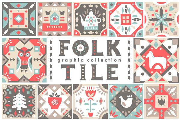 Illustrations and Illustration Products: Struvictory.art - Folk Tile - Graphic Collection