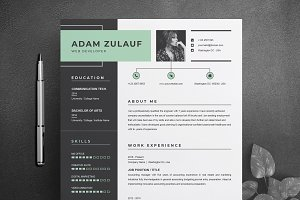 One Page Resume / CV Template