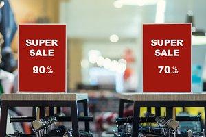 sale 70-90 off mock up advertise