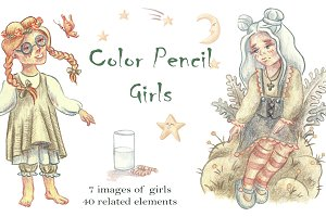 Color Pencil Girls