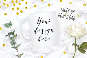 Wedding Mug Mockup Photography