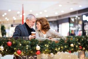 A happy senior couple doing