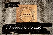 13 decorative cards