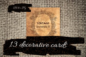 13 decorative cards