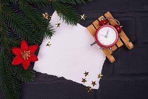 Xmas greeting card. Christmas