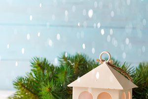 Christmas Toy house , it's snowing