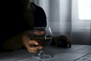 silhouette of anonymous alcoholic