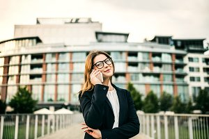A young businesswoman with
