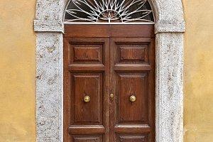Old decorated door