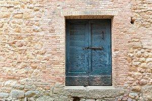 Old blue door, Italy