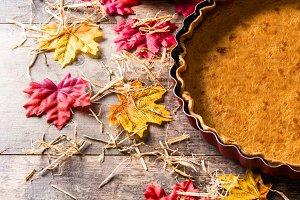 Traditional pumpkin pie