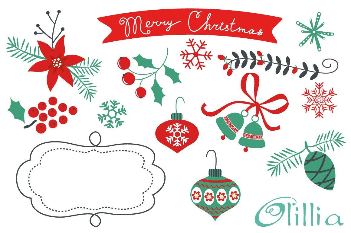 Christmas decorative elements illustrations creative for Decoration elements