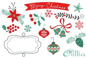 Christmas decorative elements
