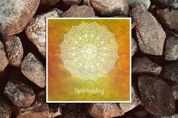 Spirituality. Decorative card. - Illustrations