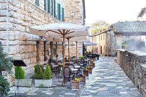 Street in Bagno Vignoni, Tuscany