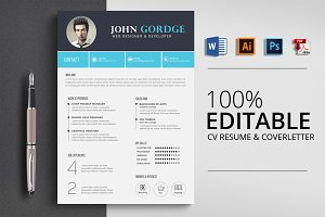 Creative CV Resume Word Template