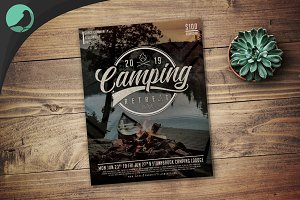 Camping Retreat Flyer Template