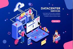 Datacenter Concept Website Banner