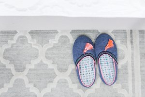 Pair of colorful slippers