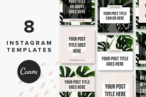 Instagram Post Templates: Tigress