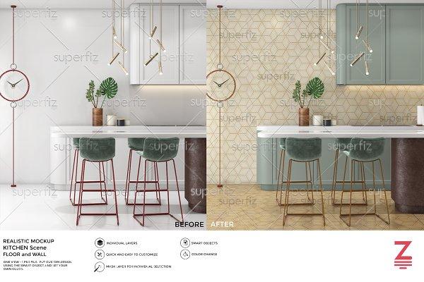 Floor&Wall Mockup Kitchen Scene SM3…